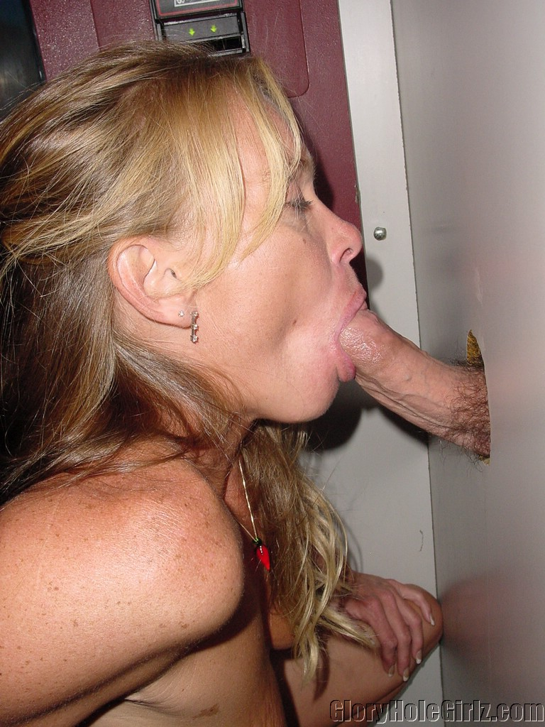 Mature glory hole cock sucking slut