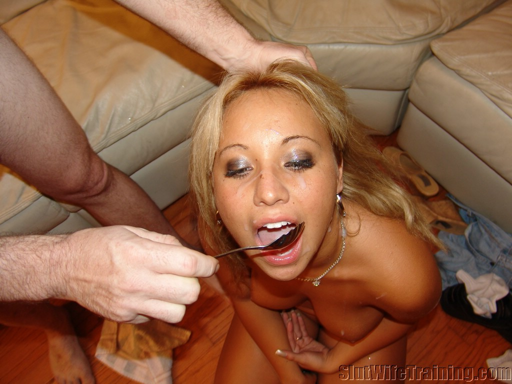training swallow Girl cum